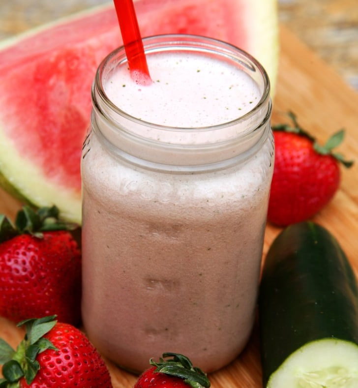 strawberry watermelon recovery smoothie