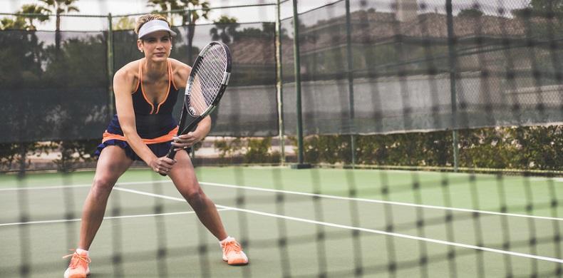 confident tennis player