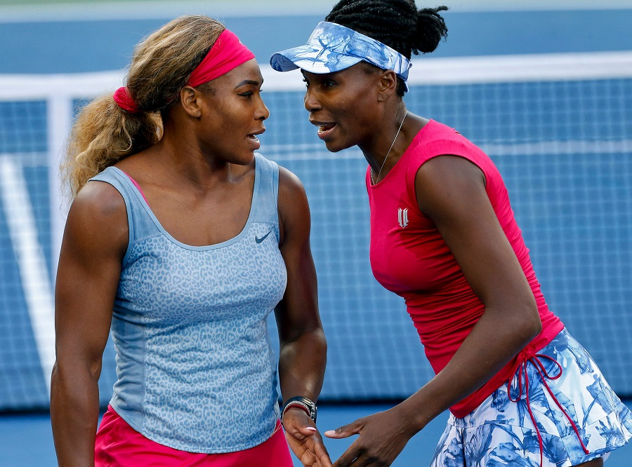 Serena and Venus doubles tennis