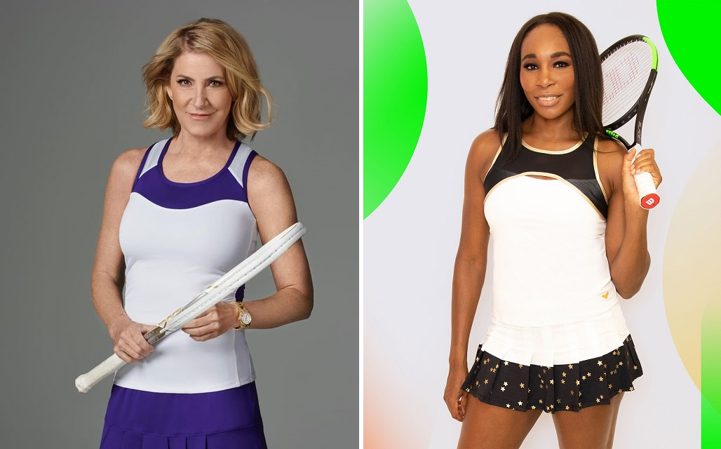 Chrissie Evert and Venus Williams