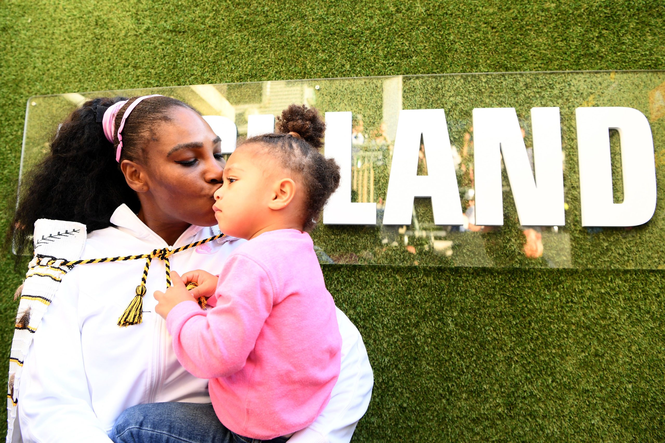 Serena Williams with Olympia